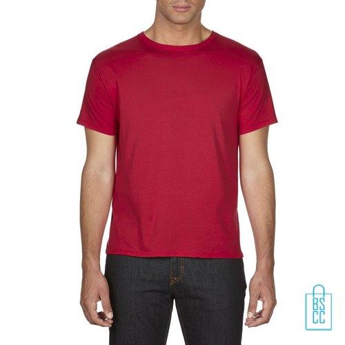 T-Shirt Heren Goedkoop bedrukken rood