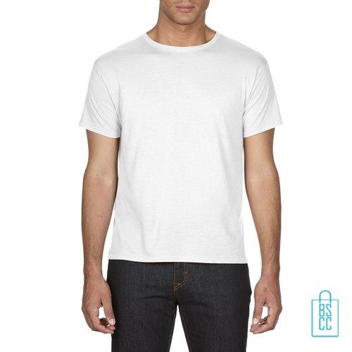 T-Shirt Heren Goedkoop bedrukken wit