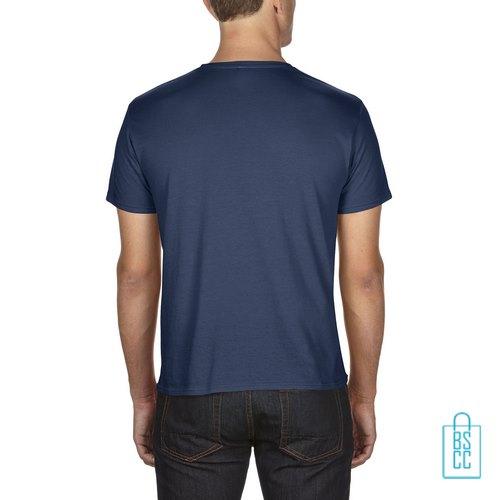 T-Shirt Heren Goedkoop bedrukt blauw