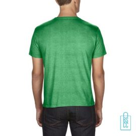 T-Shirt Heren Goedkoop bedrukt groen