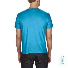 T-Shirt Heren Goedkoop bedrukt lichtblauw