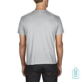 T-Shirt Heren Goedkoop bedrukt lichtgrijs
