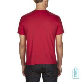 T-Shirt Heren Goedkoop bedrukt rood