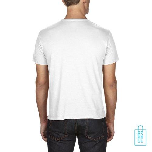 T-Shirt Heren Goedkoop bedrukt wit