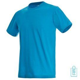 T-Shirt Heren Jersey bedrukken aqua