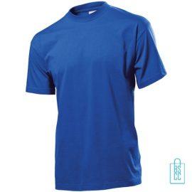 T-Shirt Heren Jersey bedrukken blauw