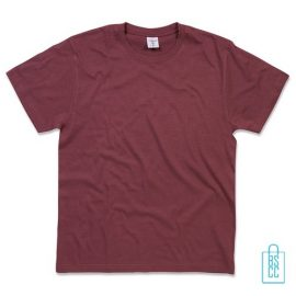 T-Shirt Heren Jersey bedrukken bordeaux
