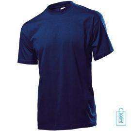 T-Shirt Heren Jersey bedrukken donkerblauw