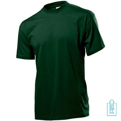 T-Shirt Heren Jersey bedrukken donkergroen