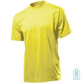 T-Shirt Heren Jersey bedrukken geel