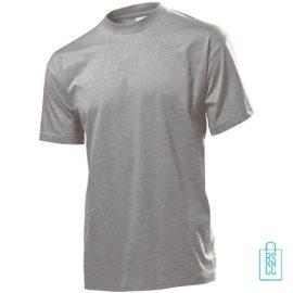 T-Shirt Heren Jersey bedrukken grijs