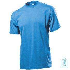 T-Shirt Heren Jersey bedrukken lichtblauw