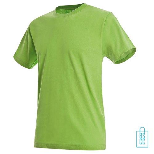 T-Shirt Heren Jersey bedrukken lichtgroen