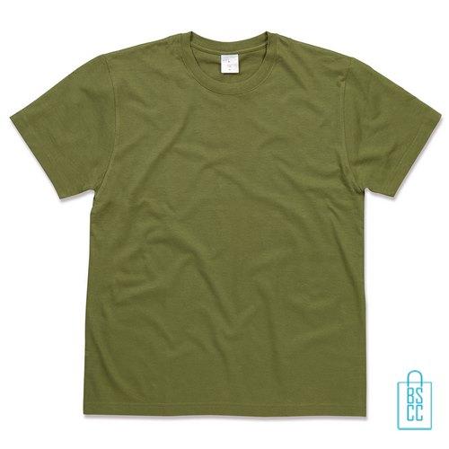 T-Shirt Heren Jersey bedrukken militairgroen