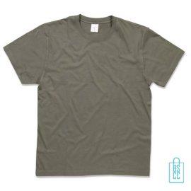 T-Shirt Heren Jersey bedrukken mosgroen