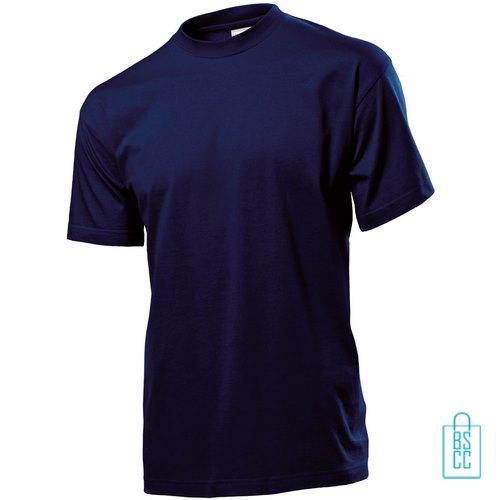 T-Shirt Heren Jersey bedrukken navy