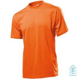 T-Shirt Heren Jersey bedrukken oranje
