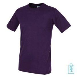 T-Shirt Heren Jersey bedrukken paars
