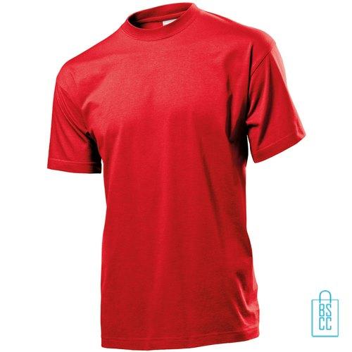 T-Shirt Heren Jersey bedrukken rood