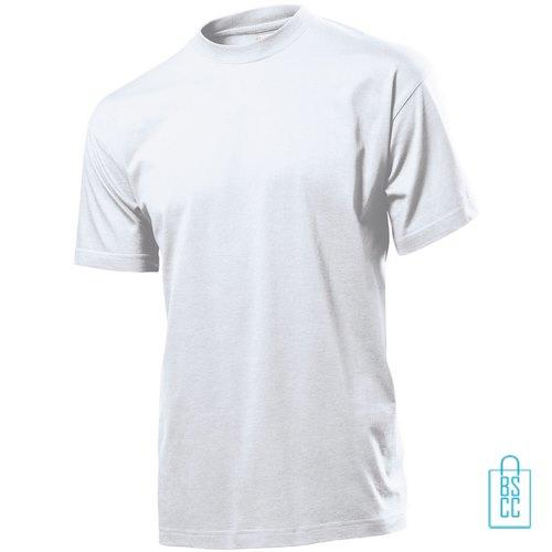 T-Shirt Heren Jersey bedrukken wit