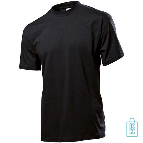 T-Shirt Heren Jersey bedrukken zwart
