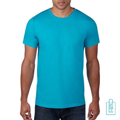 T-Shirt Heren Rond bedrukken aqua