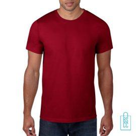 T-Shirt Heren Rond bedrukken bordeaux
