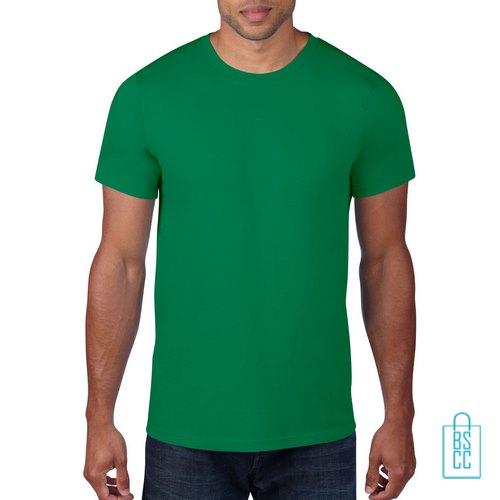 T-Shirt Heren Rond bedrukken groen