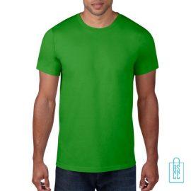 T-Shirt Heren Rond bedrukken lichtgroen