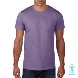 T-Shirt Heren Rond bedrukken lichtpaars