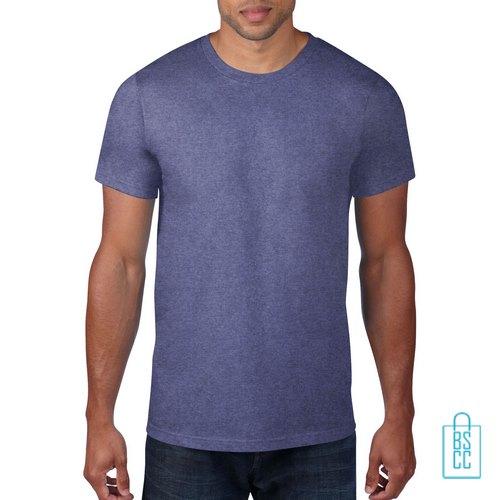 T-Shirt Heren Rond bedrukken lila