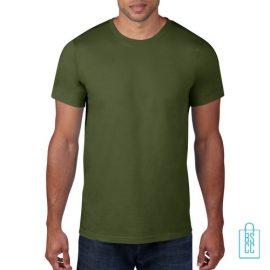 T-Shirt Heren Rond bedrukken militairgroen