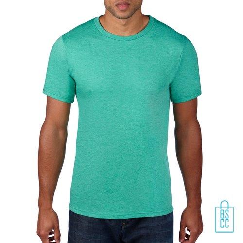 T-Shirt Heren Rond bedrukken mintgroen
