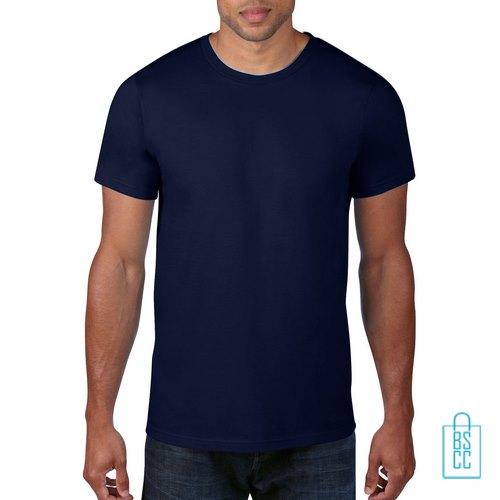 T-Shirt Heren Rond bedrukken navy