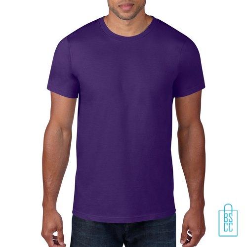 T-Shirt Heren Rond bedrukken paars
