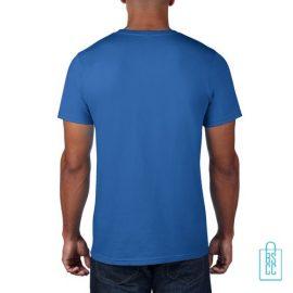 T-Shirt Heren Rond bedrukt blauw