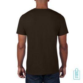 T-Shirt Heren Rond bedrukt bruin