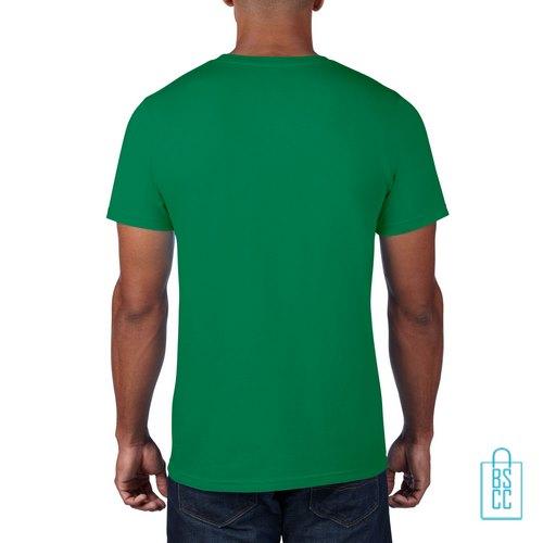 T-Shirt Heren Rond bedrukt groen
