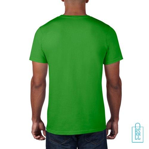 T-Shirt Heren Rond bedrukt lichtgroen
