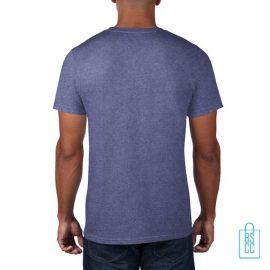 T-Shirt Heren Rond bedrukt lila
