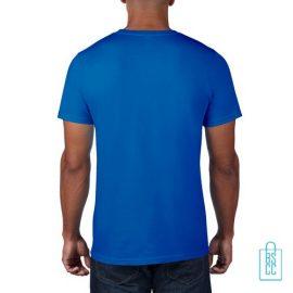 T-Shirt Heren Rond bedrukt oceaanblauw