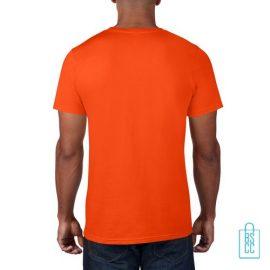 T-Shirt Heren Rond bedrukt oranje