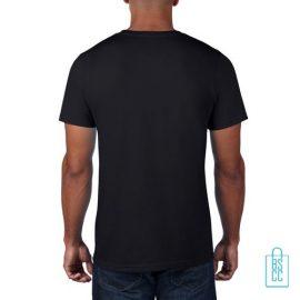 T-Shirt Heren Rond bedrukt zwart