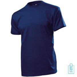 T-Shirt Heren Ronde Hals bedrukken donkerblauw