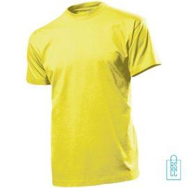 T-Shirt Heren Ronde Hals bedrukken geel