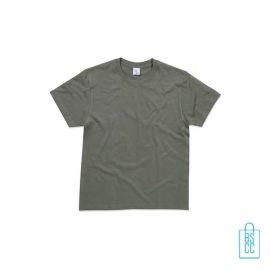 T-Shirt Heren Ronde Hals bedrukken grijs