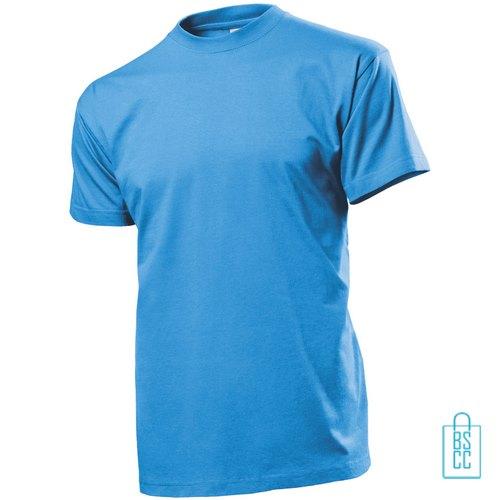 T-Shirt Heren Ronde Hals bedrukken lichtblauw