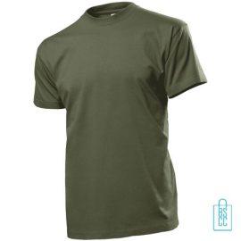T-Shirt Heren Ronde Hals bedrukken militairgroen