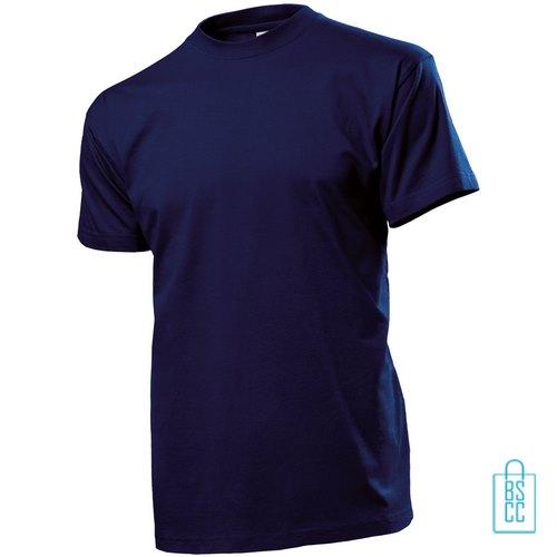 T-Shirt Heren Ronde Hals bedrukken navy