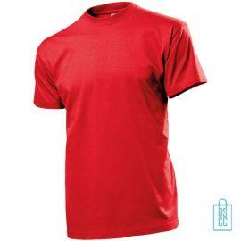T-Shirt Heren Ronde Hals bedrukken rood
